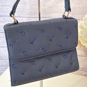 Floral embroidered micro bag